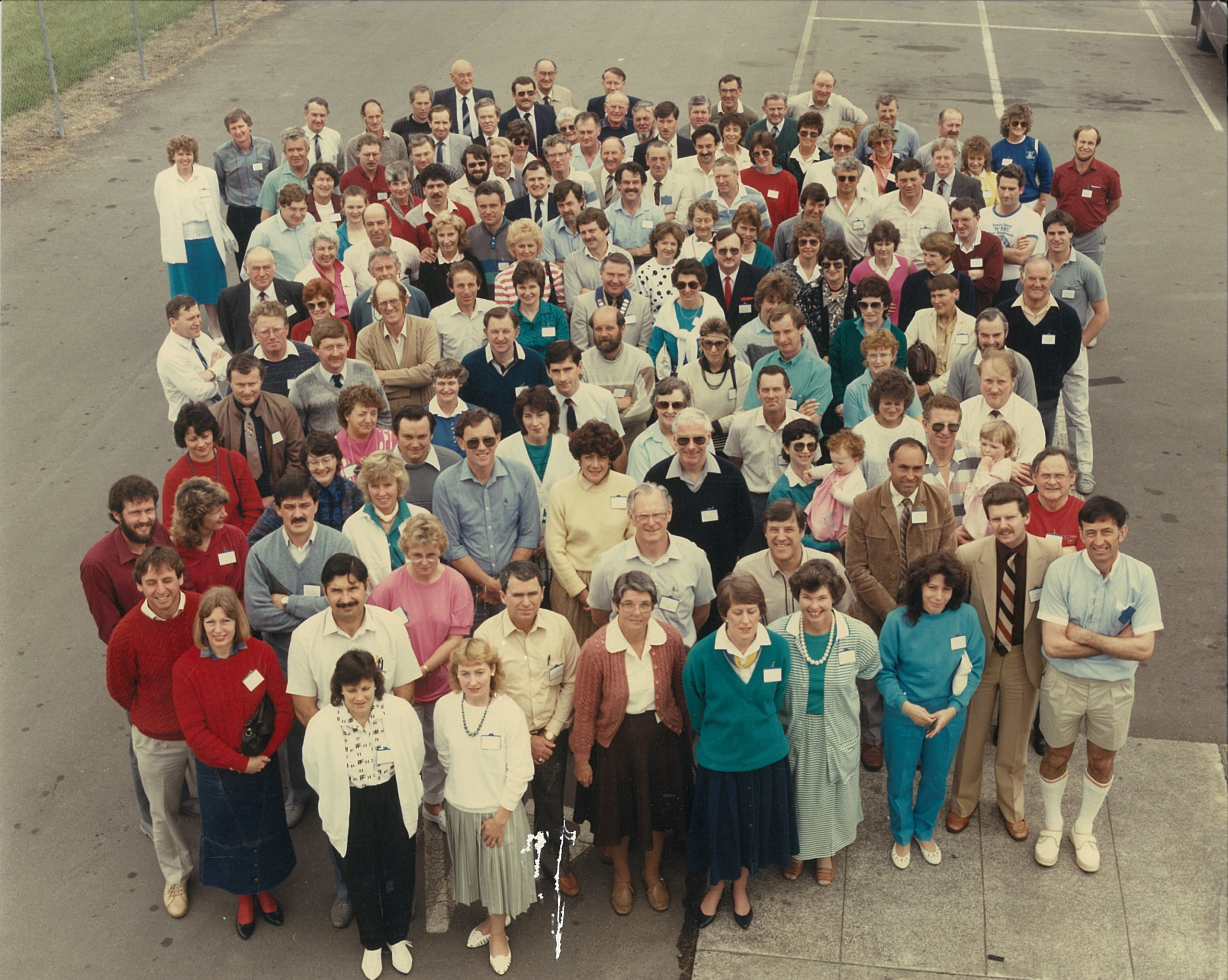 Picture of attendees at the 1986 Conference